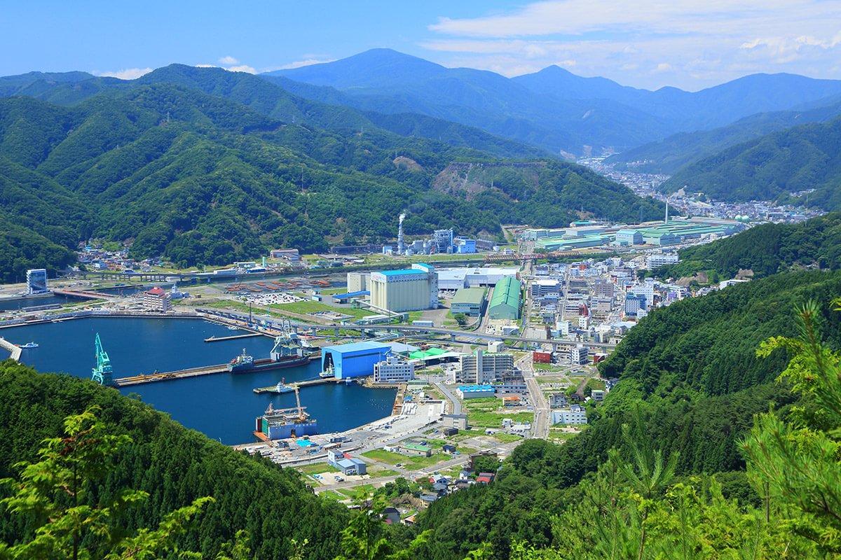 釜石市東部地区 全景
