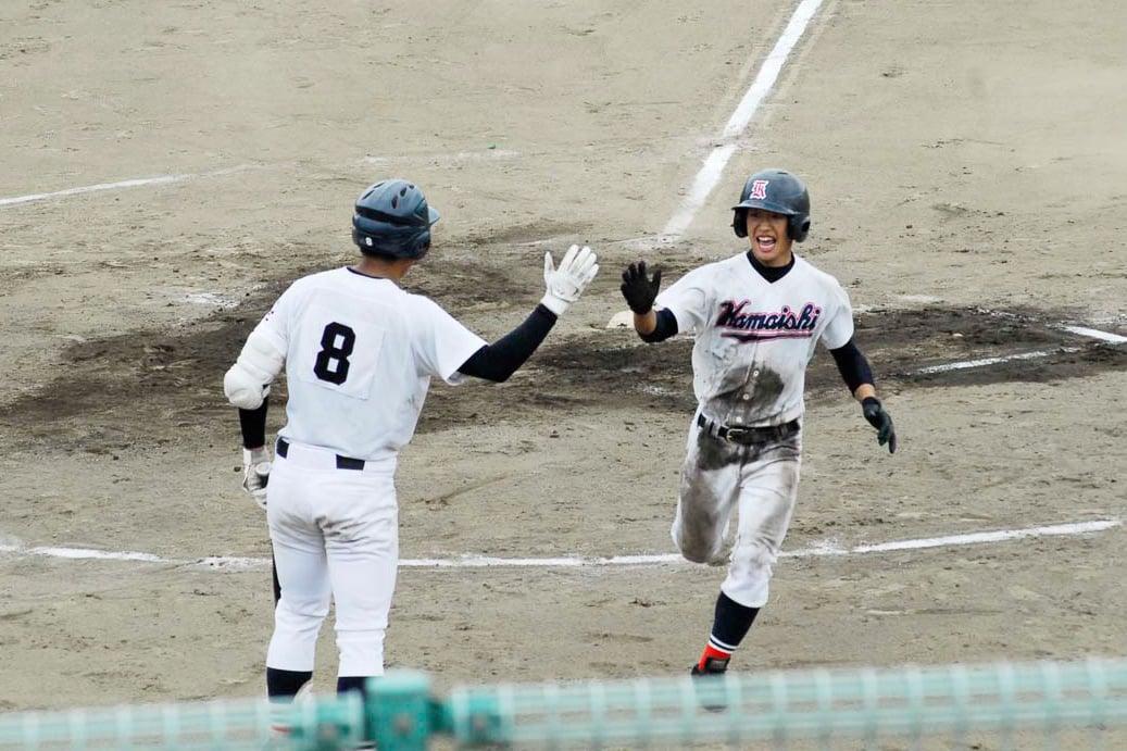 3番三浦潤太の左中間二塁打で鈴木孝輔が生還