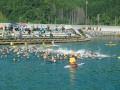エイジ、リレーの部のスイムスタート。根浜の海で熱い戦いが幕を開けた