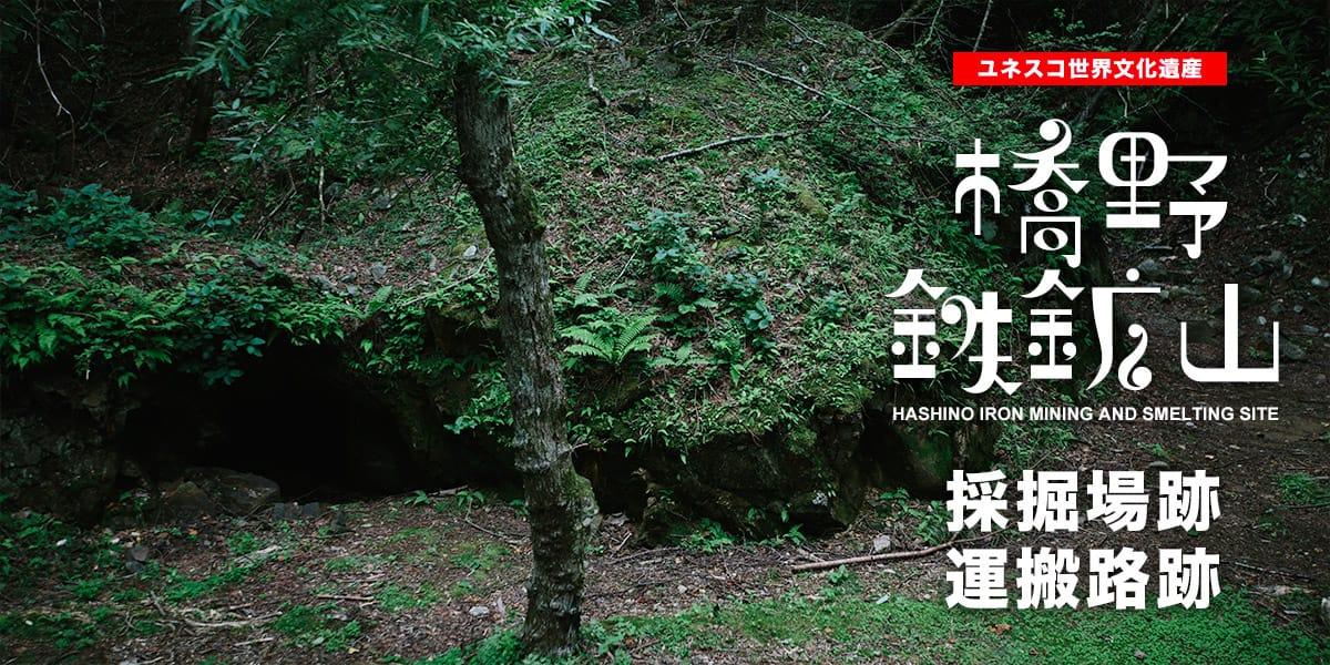 橋野鉄鉱山 採掘場跡、運搬路跡