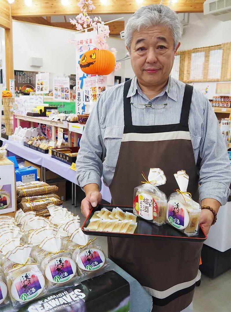 道の駅釜石仙人峠で売り出した酒ようかんと梅酒ようかん