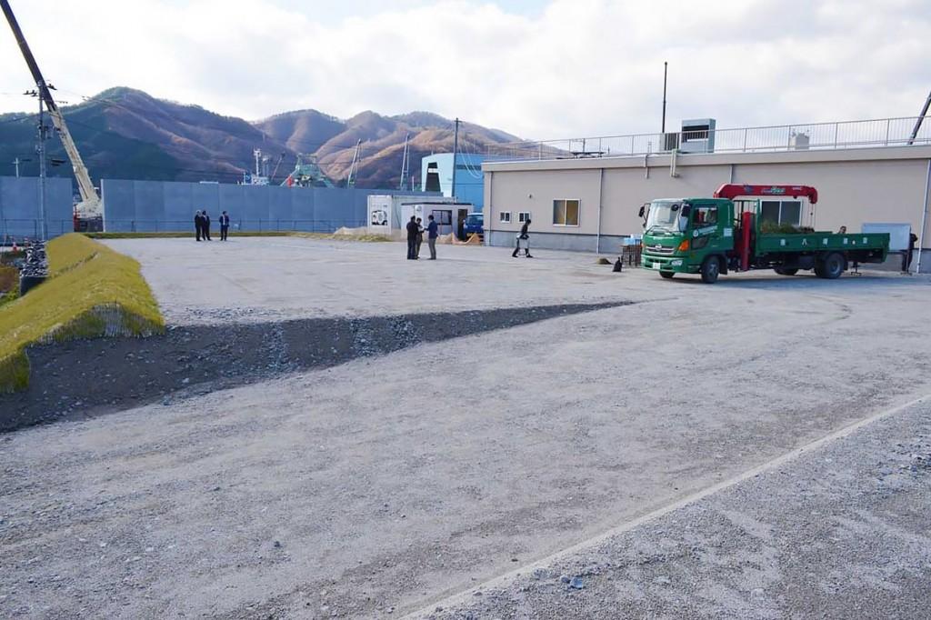釜石水産物商業協同組合の新しい事務所用地