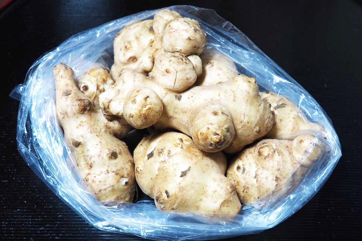地域資源活用研究会が特産化を目指す橋野町産キクイモ