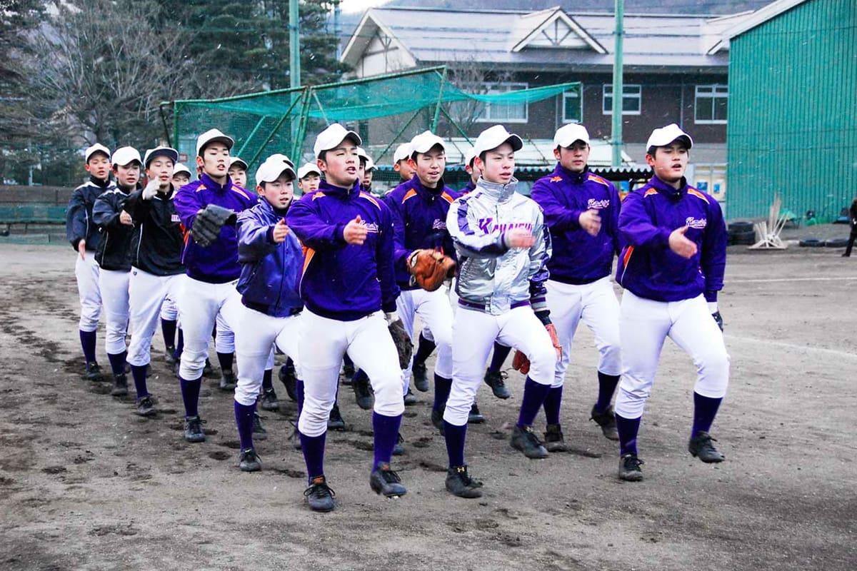 愛知県東海市で1週間にわたる合宿を行う釜石高野球部