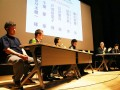 「三陸水産業の未来を考える」をテーマにパネル討論を繰り広げる漁業者や研究者ら