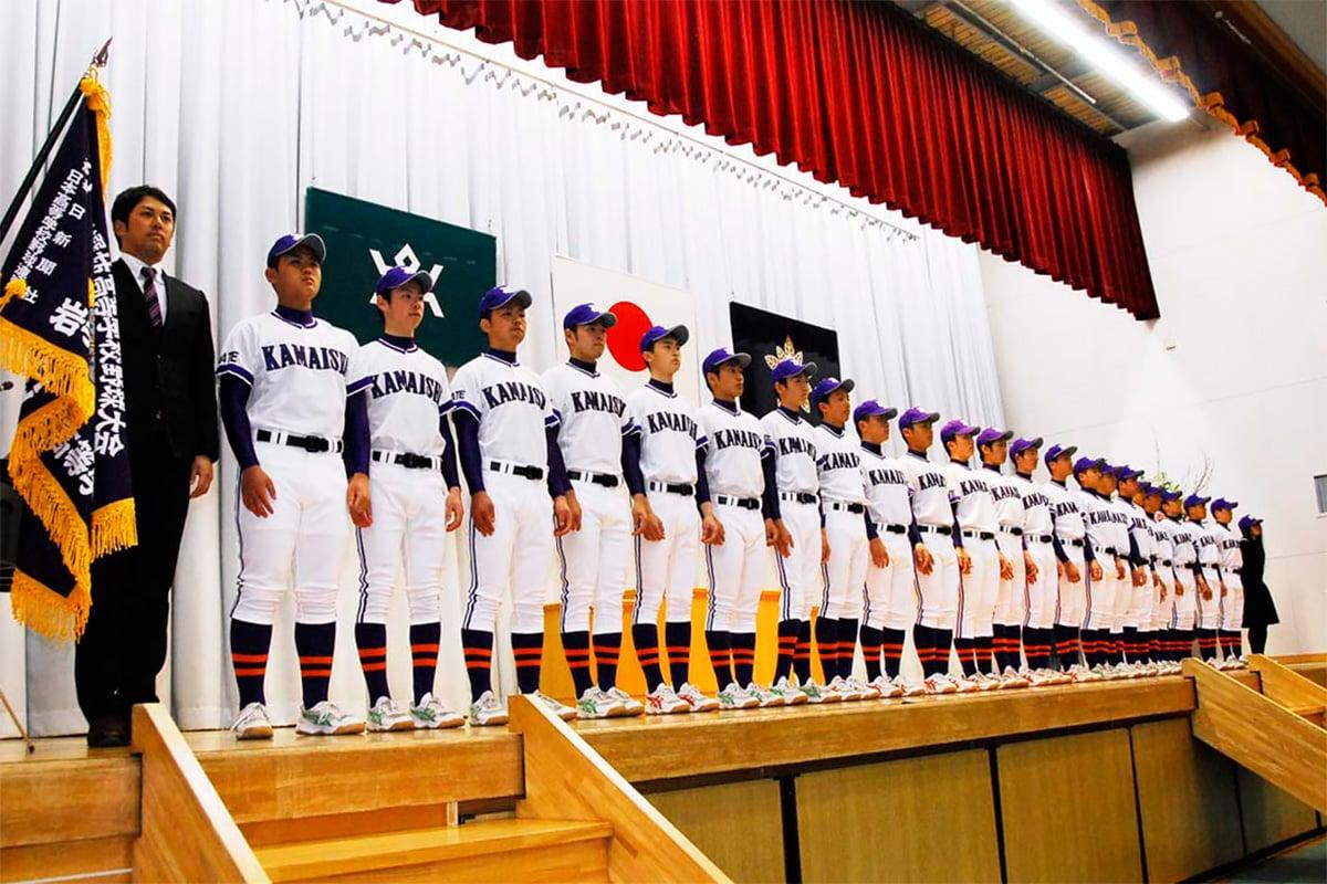 被災地代表としての決意を新たにした釜石高野球部