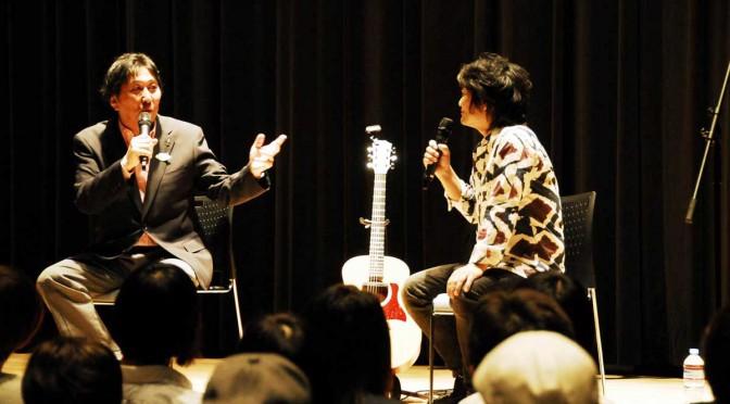 復興応援トークを繰り広げる松尾さんと根本さん