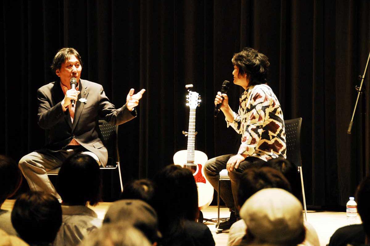松尾さん、根本さん復興応援トーク~30年来の交流エピソード織り交ぜ