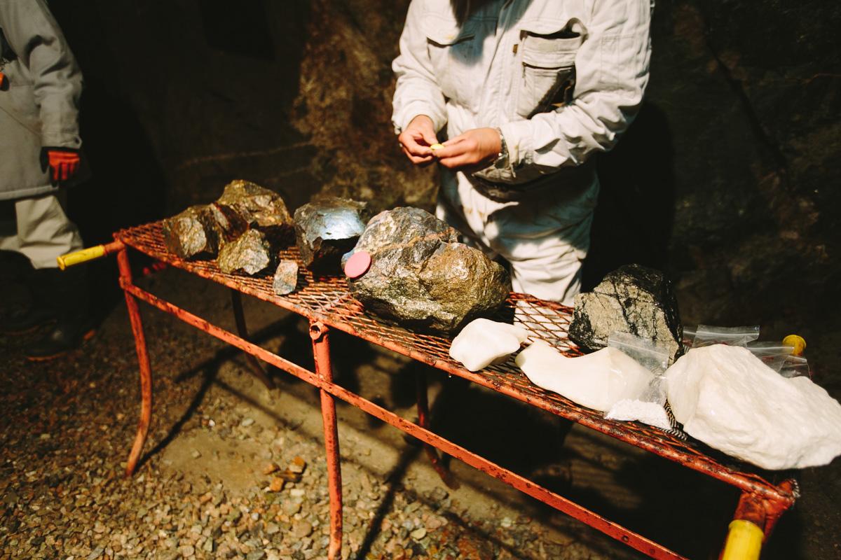 釜石鉱山で採掘される石