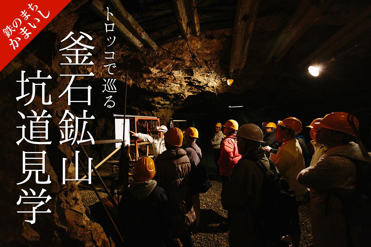 トロッコで巡る 釜石鉱山坑道見学
