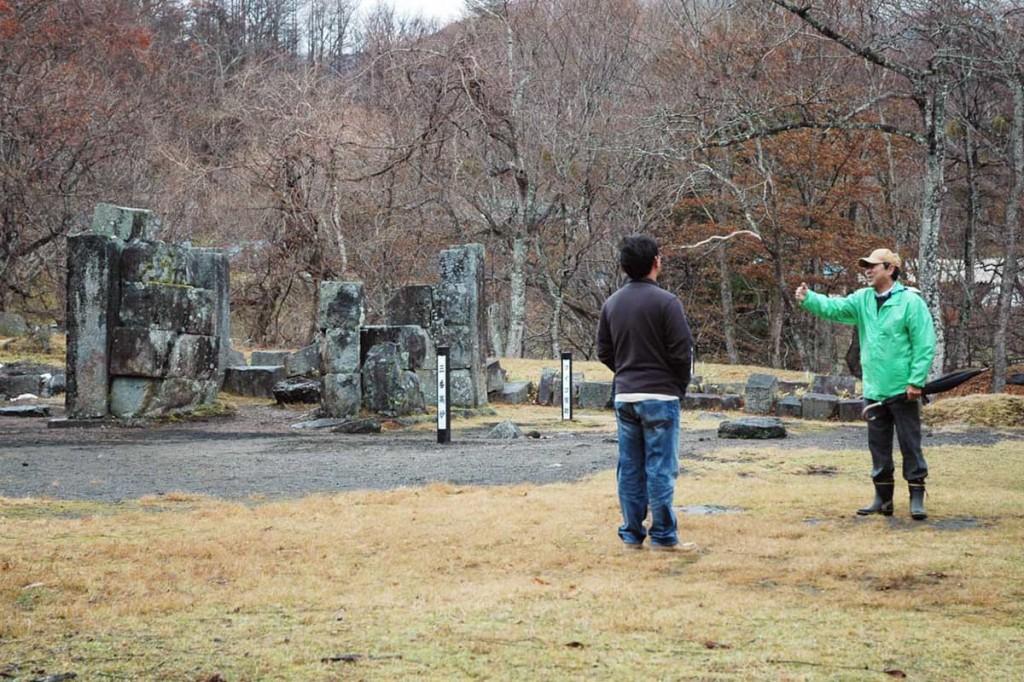 見学の受け入れを再開した世界遺産「橋野鉄鉱山」(高炉場跡)