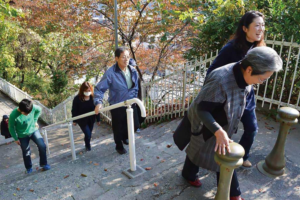 休日と重なった避難訓練でも大津波被災地の住民は幅広い年代が参加した