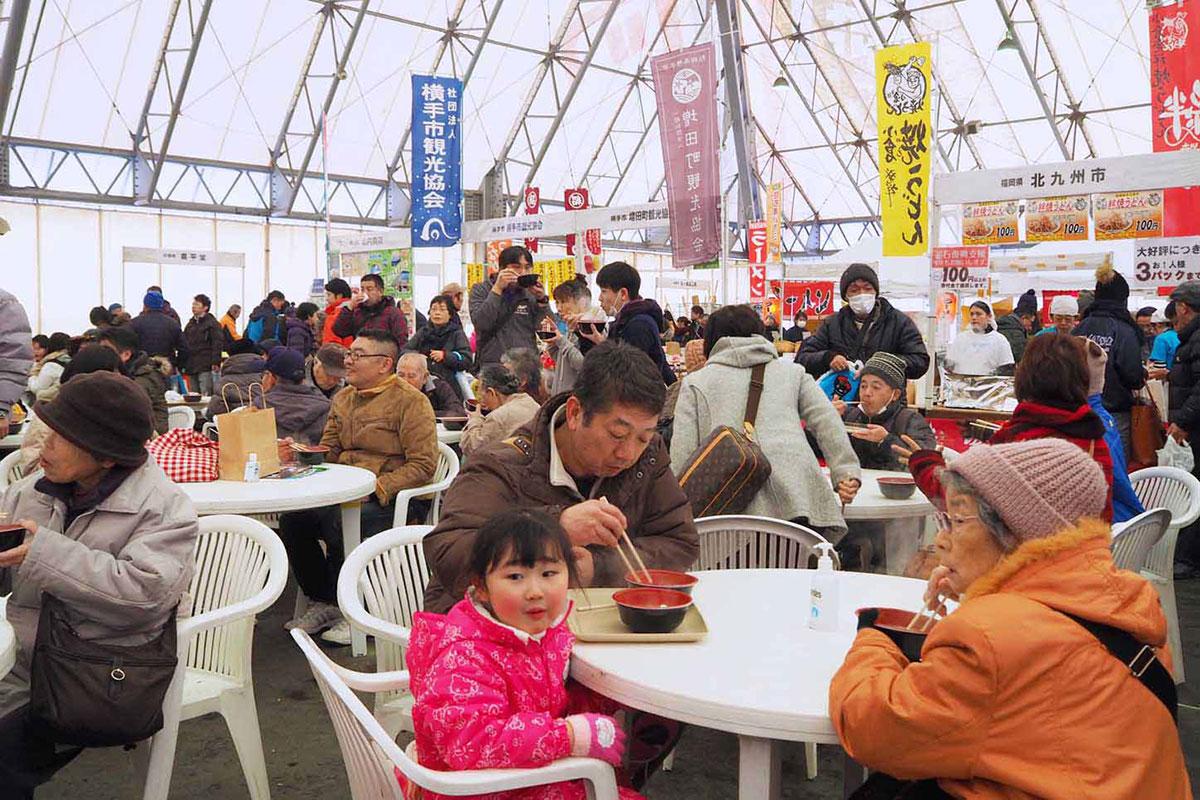 県内外の特産品が集まった冬の味覚まつり
