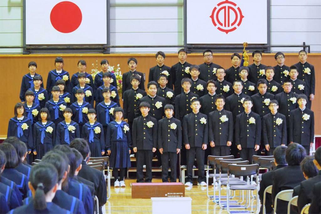 通算5年間を過ごした仮設校舎から巣立った釜石東中卒業生