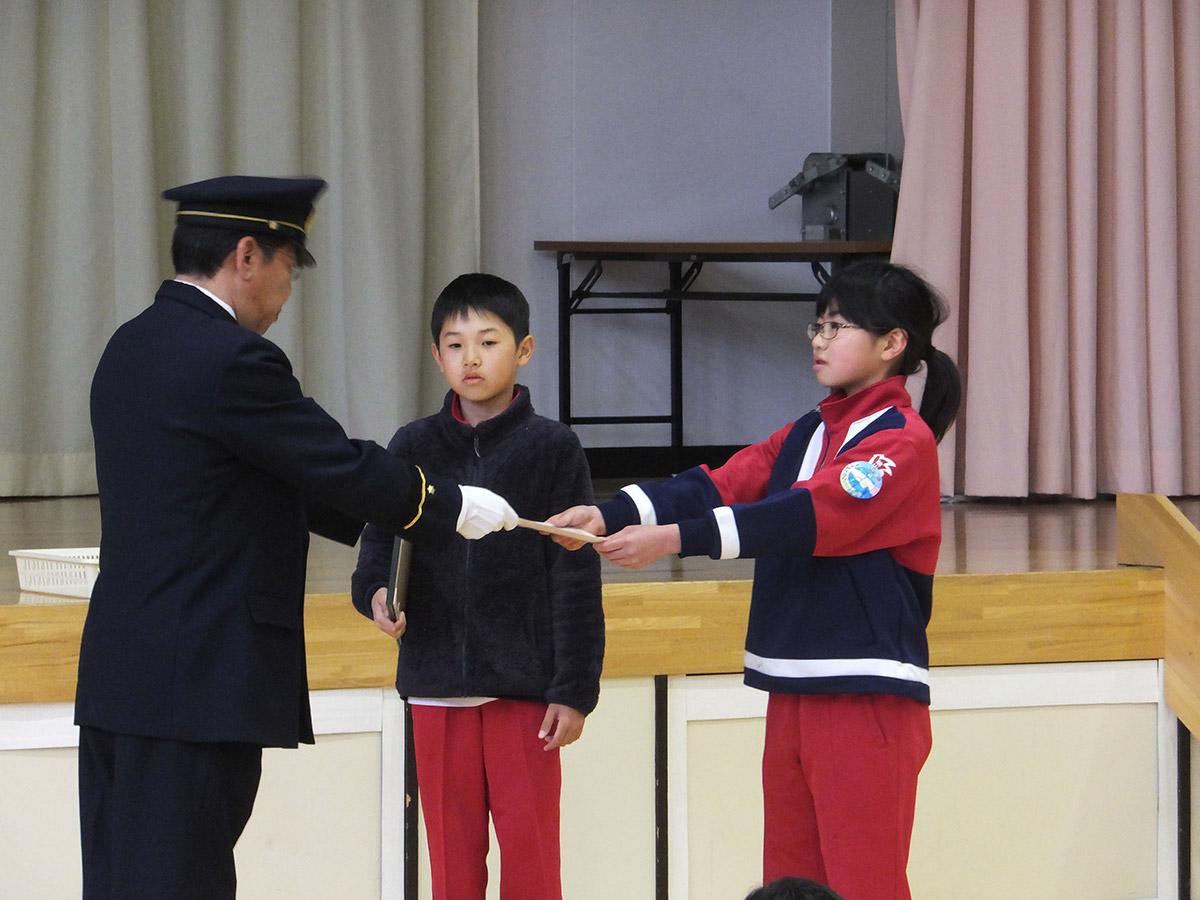 釜石小学校結団式