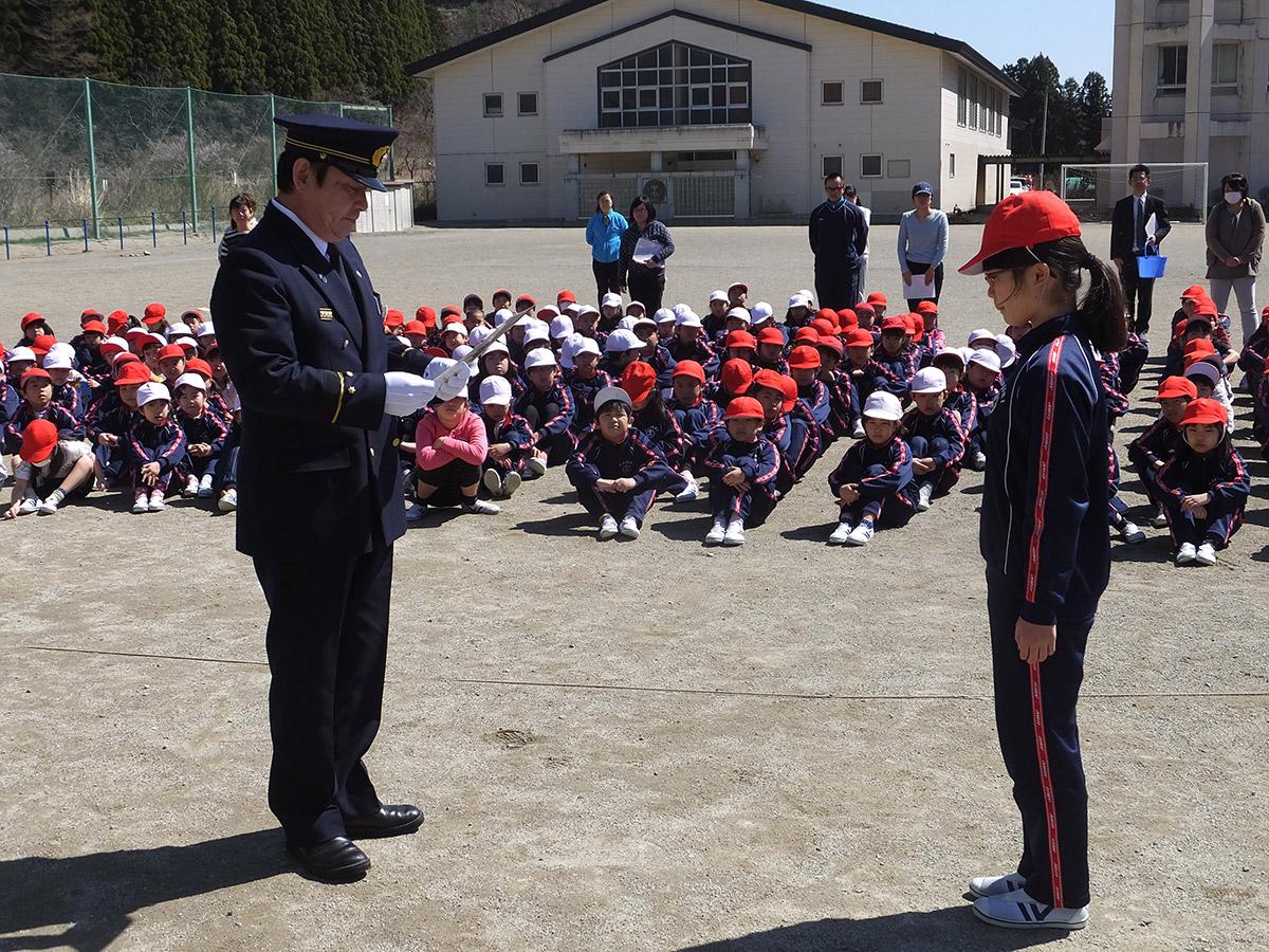 甲子小学校結団式