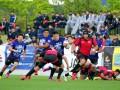 釜石SWが帝京大ゴールまで迫ったのは前後半合わせても数度に終わる=盛岡市・いわぎんスタジアム