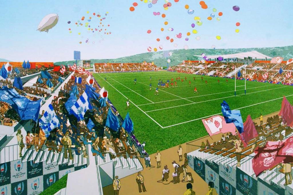 鵜住居復興スタジアムの完成イメージ図