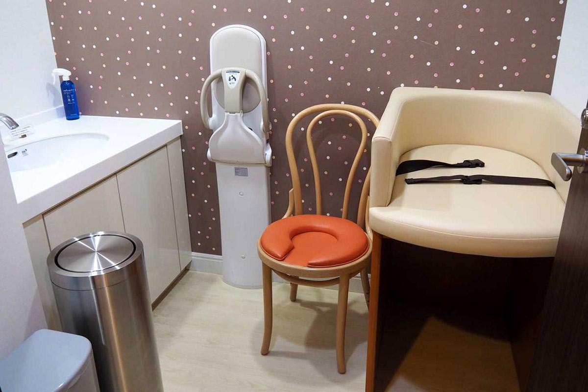 ホテル内の静かな一角に整備されている授乳室