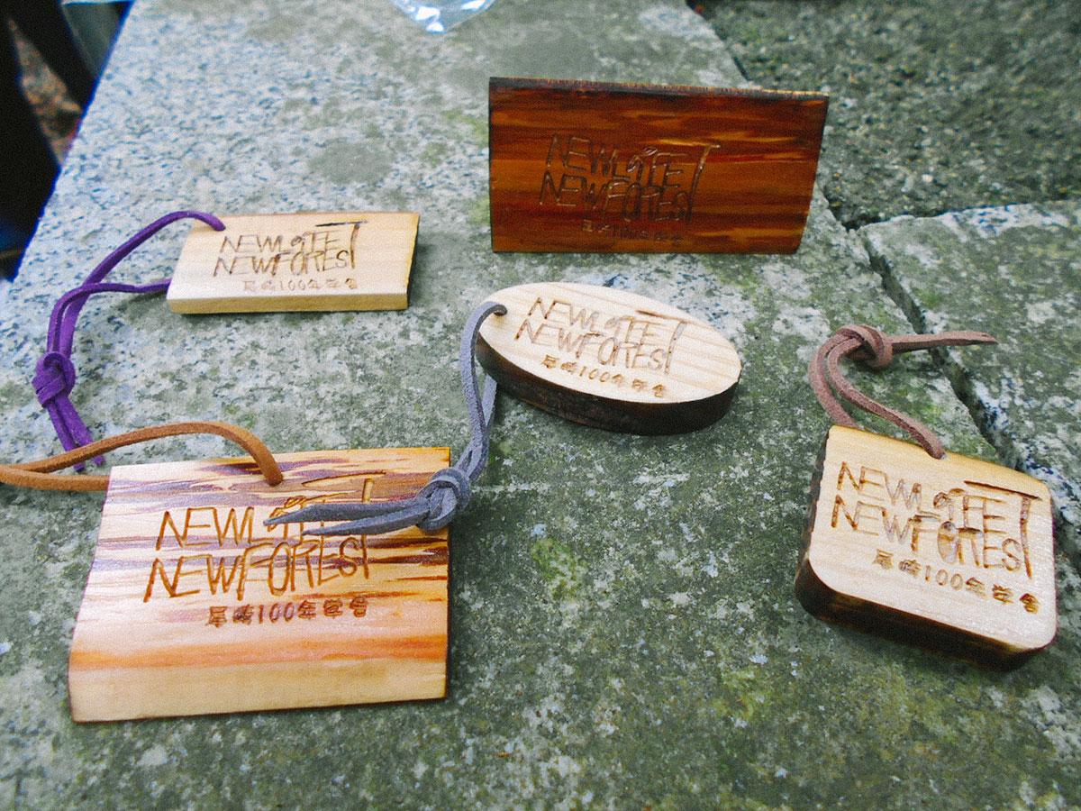 被災木材を使用したオリジナル木製グッズ