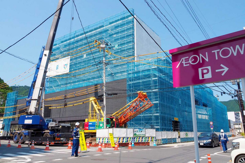 10月末の竣工に向け建設が進む市民ホール