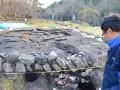明治初期に再稼働したとみられる鍛冶場遺構は石垣に拡充の痕跡