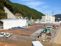 新町に建設が進む釜石中央インターチェンジ