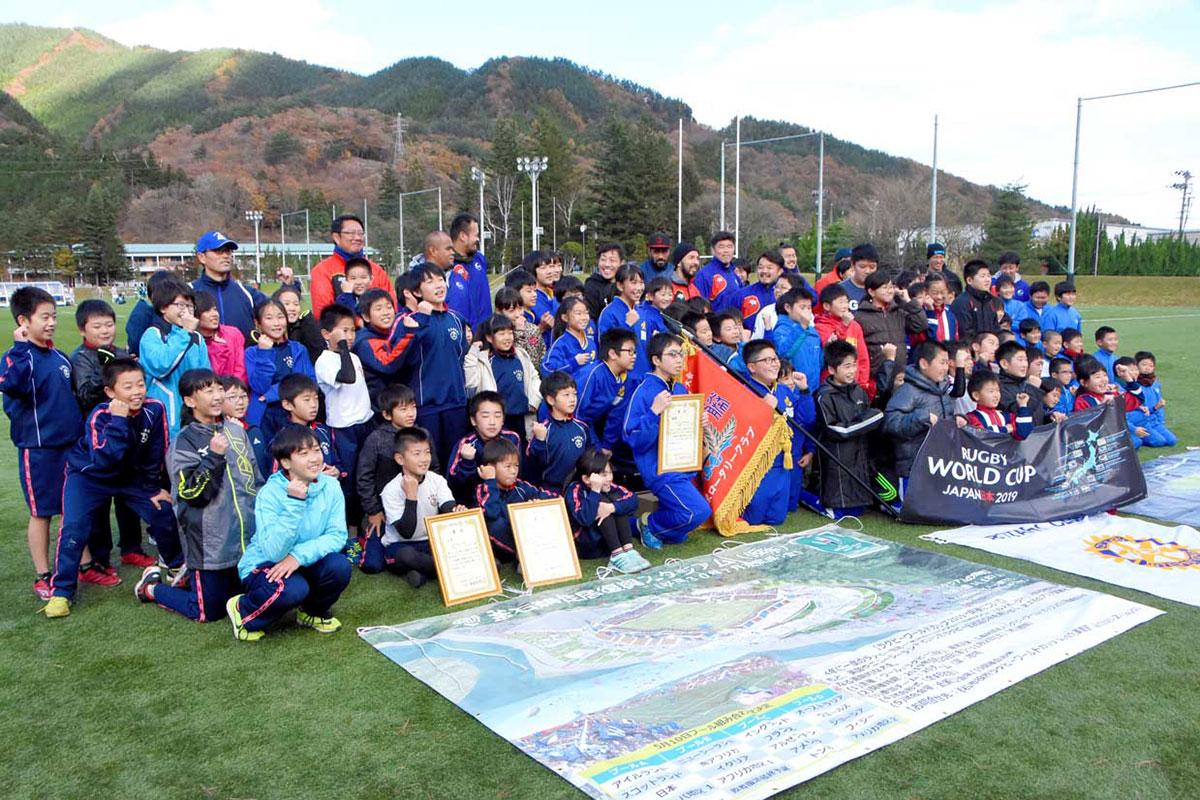 大会に参加した児童たち。サポートした釜石SWのメンバーと