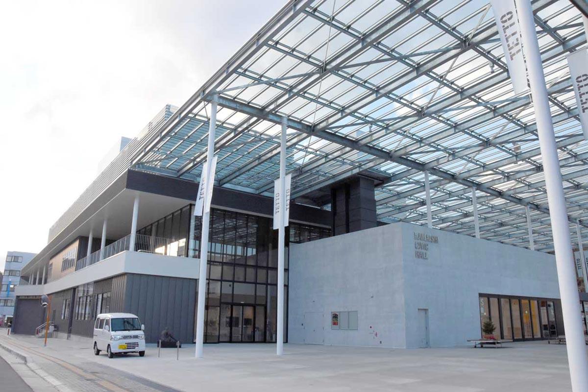 中心市街地に完成した釜石市民ホール