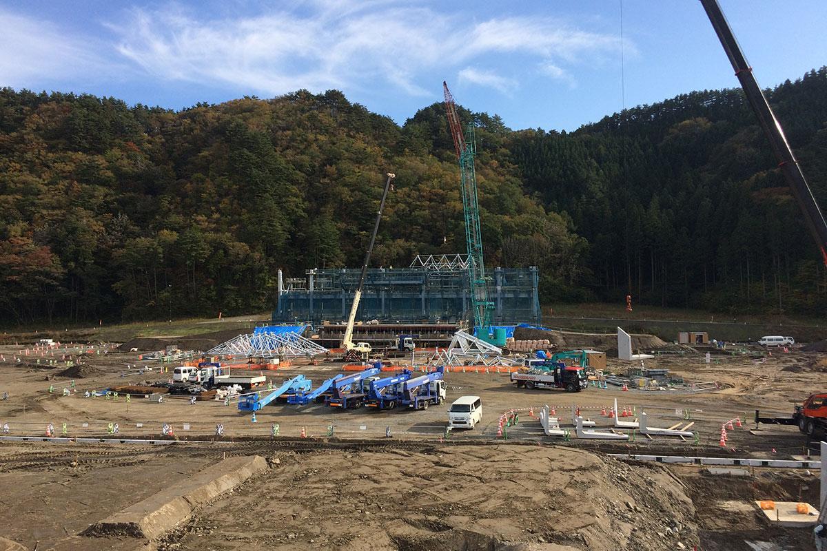スタジアムの建設現場