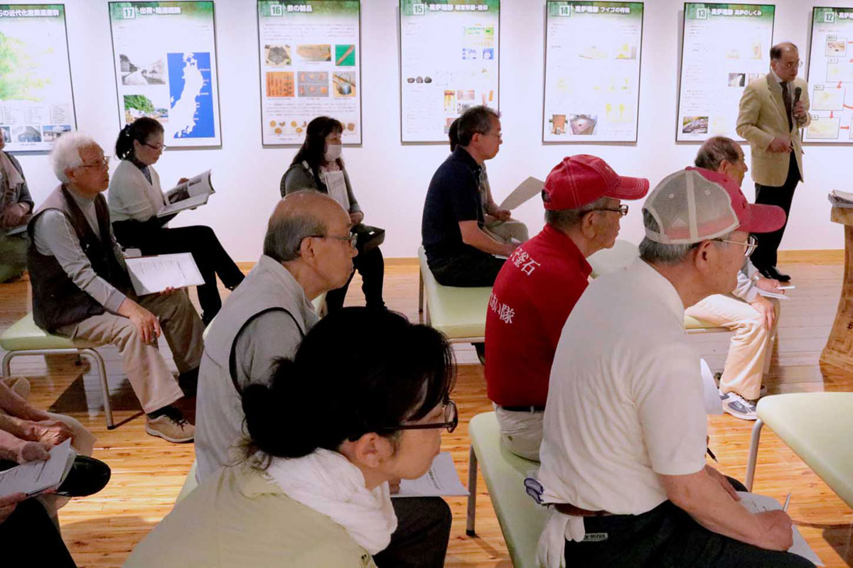 大島高任の支援者にスポットを当てた講演に参加者も興味津々