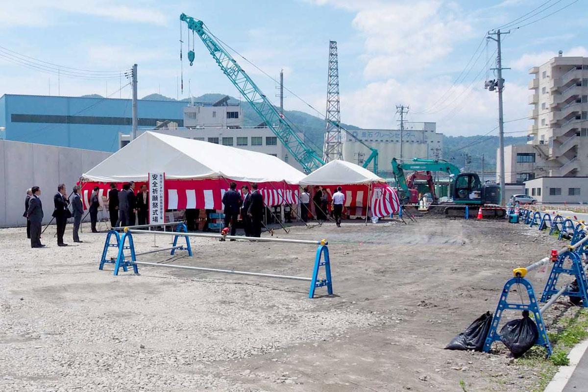 施設の建設予定地