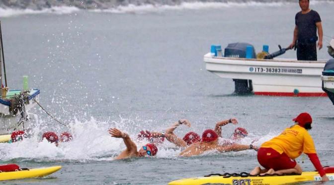 根浜の周回コースでオープンウォータースイミング〜国内各地から206人エントリー