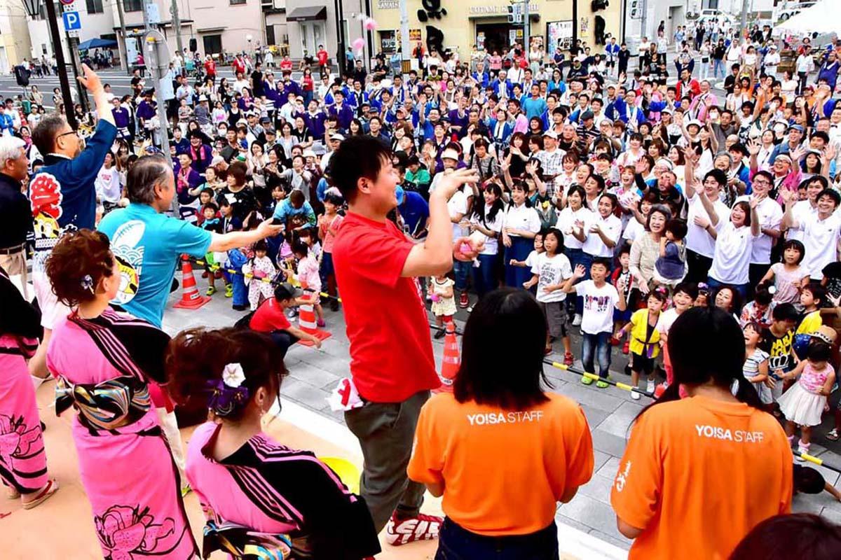 30回目の節目を迎えた釜石よいさ。約6千人の市民が集まった