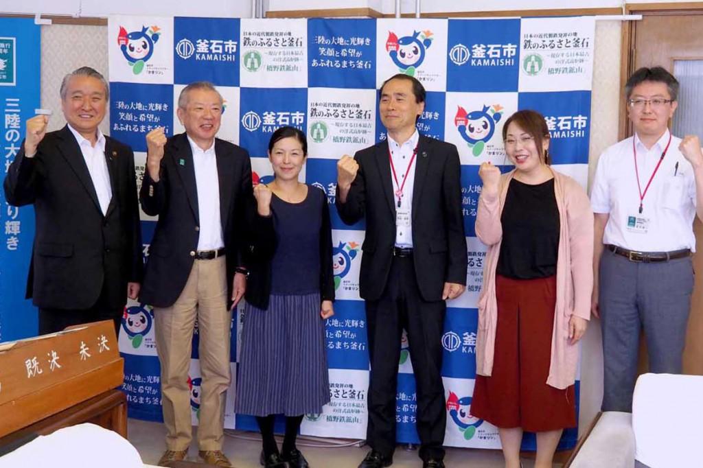 ディーニュ市訪問に向け意欲を示す野田市長(左)ら