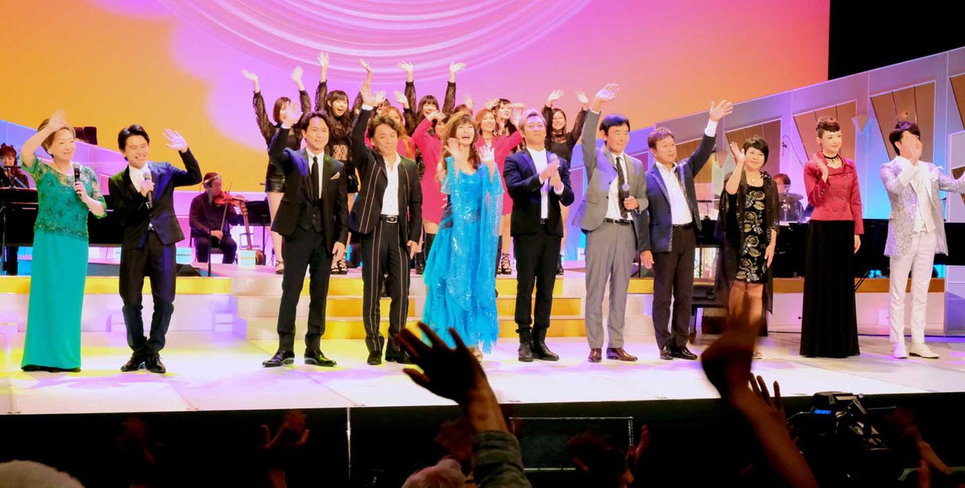 「こころの歌人たち」で歌声を響かせた出演者ら=JASRAC提供