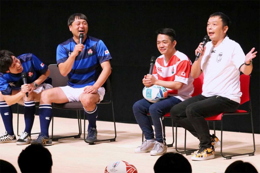 中川家のラグビーおもしろトークに観客は大喜び