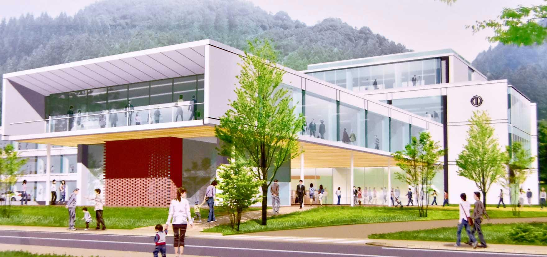 釜石市の新庁舎完成イメージ
