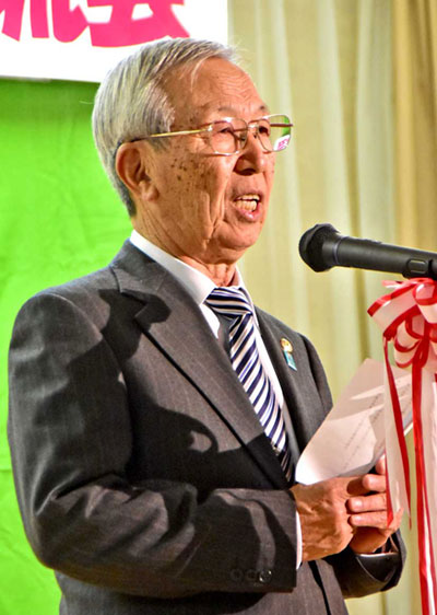 栗澤会長が年頭のあいさつ