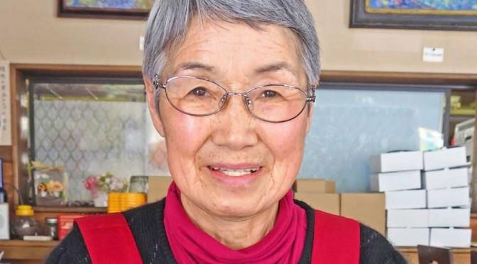 甲子柿ジェラートを製造している藤井代表