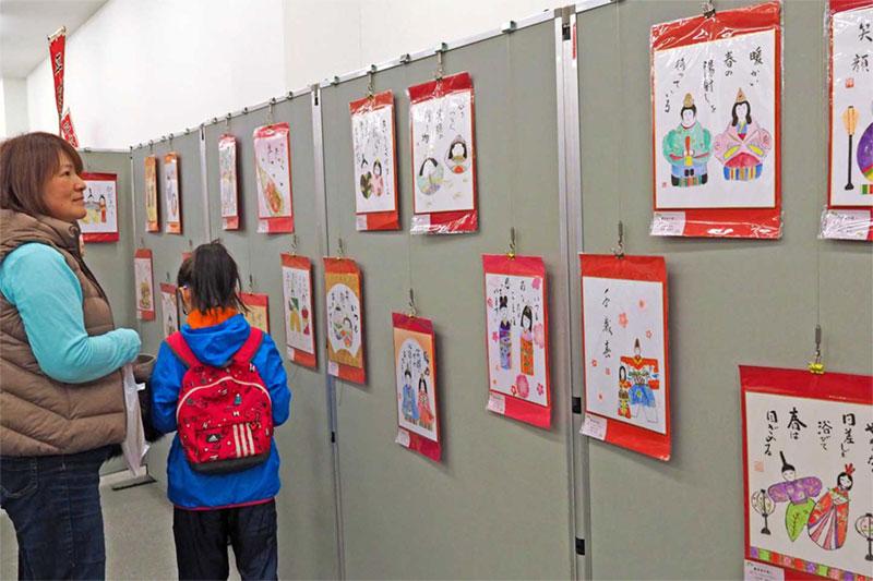 復興応援「おひなさま色紙」〜「製鉄のまち」北九州市から今年も