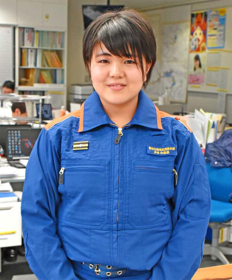 「優しい職場。配慮もうれしい」と意欲を高める多田さん