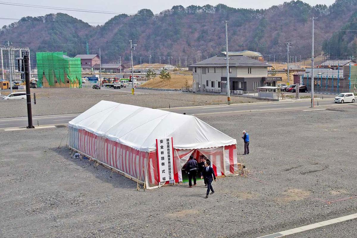 鵜住居地区商業施設の建設地