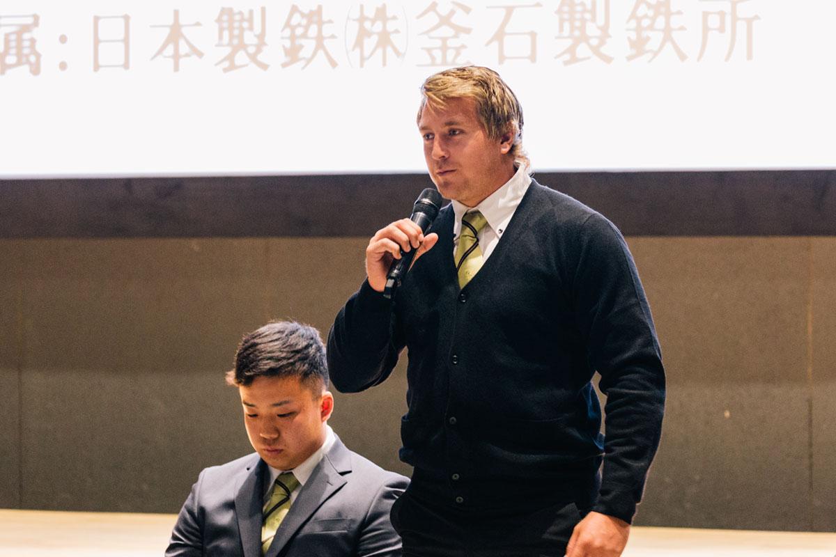 釜石シーウェイブスRFC選手紹介2019 第4弾『ヘルダス・ファンデンボルト選手』