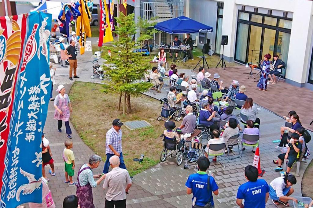 上中島地区で暮らす復興住宅の住民が集った夏祭り