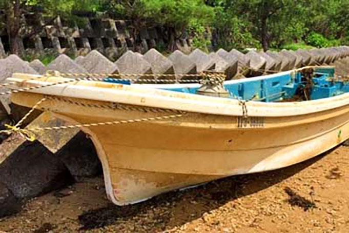 震災から8年半 津波で流され漂着〜釜石の漁船 沖縄で発見、中城海保から連絡