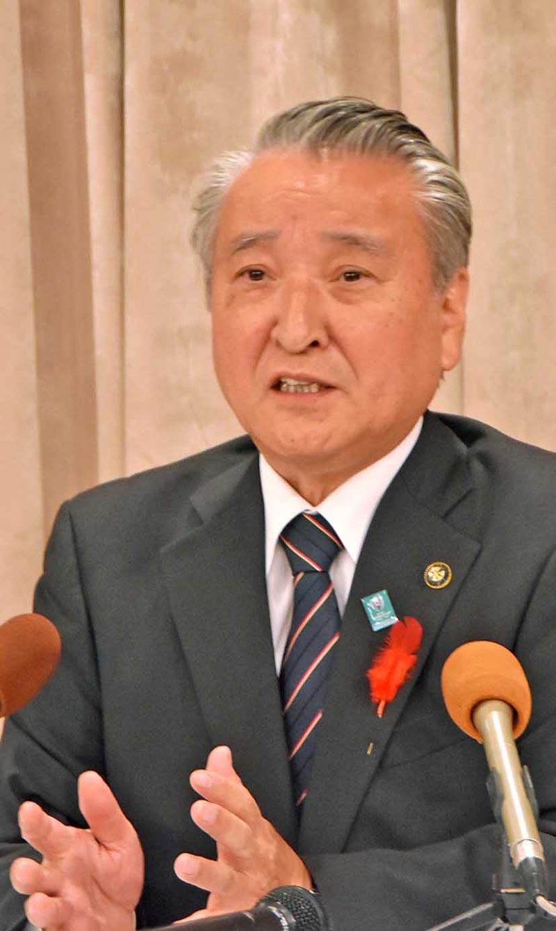 4選を目指し出馬を表明する野田氏