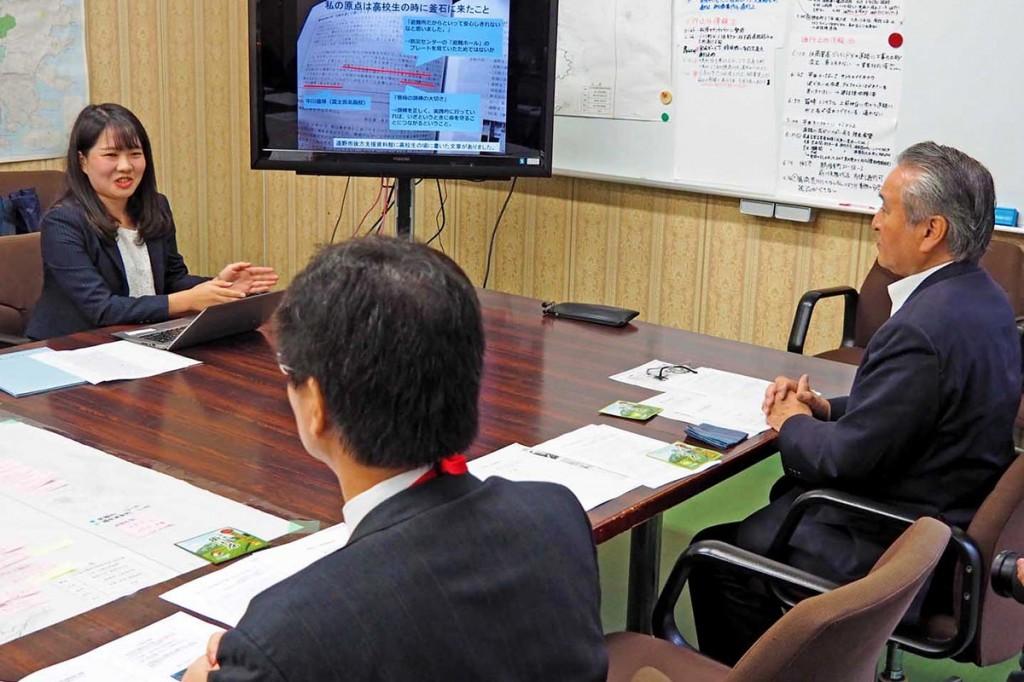 釜石での研究成果を報告する中川さん
