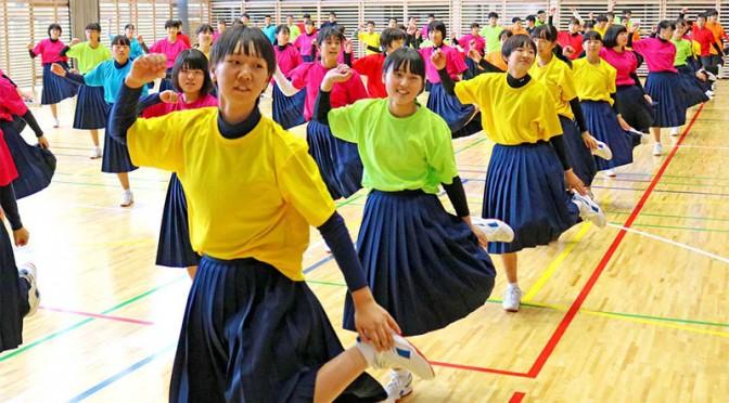教訓学び ダンスで交流〜愛知県幸田中−釜石東中、支援の募金携え釜石訪問