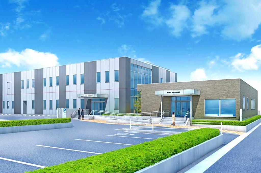 三陸営業所と電力センター新社屋の外観イメージ